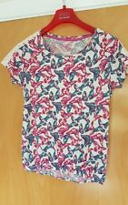 ladies TU casual stretch top size 12 pink butterfly print
