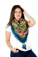Colourful Slavonic Russian folk vintage style scarf shawl new Winter collection