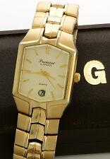 Vintage Rolled Gold Plate Gruen (Swiss) Quartz Watch CA1980s with Box