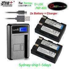 LCD+2XD-li50 Dli50 D-l150 Battery for Pentax K10 K10D K20D GP Grand Prix Camera