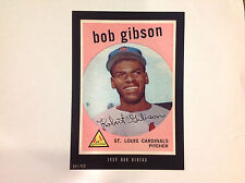 BOB GIBSON #514 Cardinals RC 1959 Style 2016 Topps Anthology 5X7 #ed/499 made