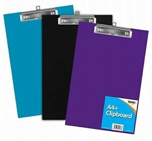 New A4 Plastic Rigid Clipboard With Pen Holder - Choice of Colours