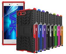 Sony Xperia X Compacto-Alta resistencia fuerte a prueba de choques con soporte duro funda