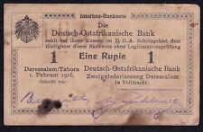 DOA Deutsch Ostafrika: 1 Rupie 1.2.1916 - Serie L2 - rechts Querstrich (DOA-30F)