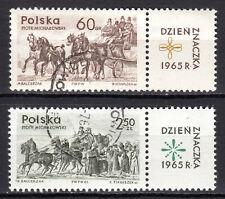 Poland - 1965 Stamp day / Coach - Mi. 1621-22 VFU
