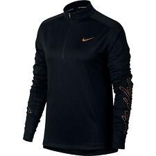 Nike Womens Pacer Half Zip Running Top Shirt Black Size M 931791 010