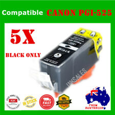 5X Ink Cartridge For Canon PGI525 Black ONLY MG 6150 6250 8150 IP4850 4950 MX880
