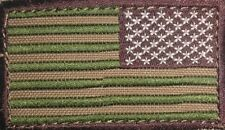 "Condor Reverse American Flag Patch 2"" x 3""inch Multicam - Hook & Loop Backing"