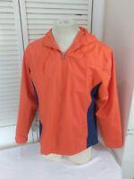 i5 Women's, Orange/Blue, Size Medium, Full Zip, Rain Resistant Jacket with Hood
