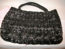 Vintage Sweet-Lo New York Hand Beaded Evening Bag Purse with Storage Bag