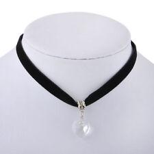 Ladies Black Chocker Choker Trendy Heart Collar Necklace Fashion Jewellery Girls