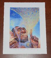 Alex Grey Psychadelic Art Print The Visionary Origin of Language S/# 200 Poster