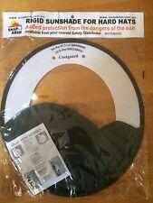 Rigid Sunshade For MSA Coolguard Hard Hats  -  Green/White Snap Brim Hat