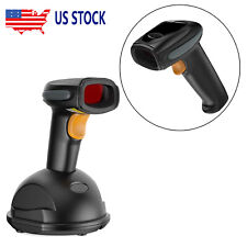 Automatic Wireless/Wired Bluetooth Barcode Scanner Gun With Usb Cable Stand New