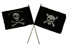 "12x18 12""x18"" Wholesale Combo Pirate Commitment & Crossbones Stick Flag"