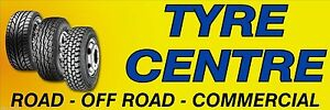 TYRE CENTRE PVC Printed Banner for fence or garage wall 6003a