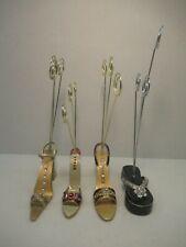 Bijou Ladies High Heel Enameled Mini Shoe Party Picture/Card Holders - Set of 4