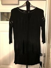 Next Tall Ladies Black Sequinned 3/4 Sleeve Top Size 10