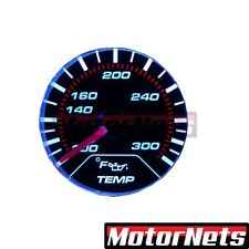 "Universal Chrome Electric 2"" Water Temperature Gauge Black Face LED Chevy Ford"