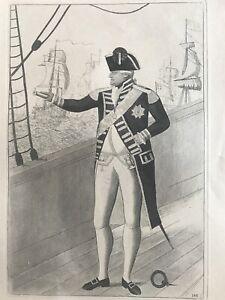 Orig. 19thC  John Kay Engraving Admiral Duncan