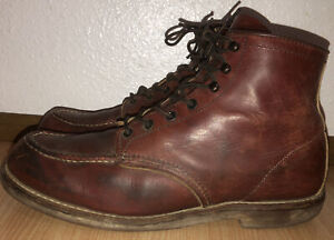 Vintage Red Wing Boots 213 Heritage Moc Toe Work Motorcycle 12 D