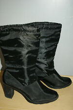 Tower Women's ankle Fall black heels boots Shoes size 10