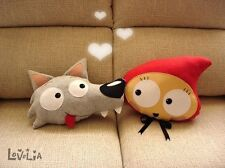 Little Red Red riding hood Plush and big bad wolf pillow / plush