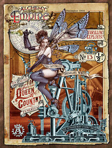 Steampunk Empire, Alchemy, Gothic, Fairy, Engine, Medium Metal Tin Sign, Picture