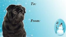Pug Christmas Labels by Starprint - No 2