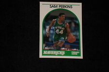 SAM PERKINS 1989-90 NBA HOOPS SIGNED AUTOGRAPHED CARD #286 MAVERICKS