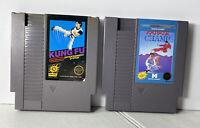 KUNG FU & KARATE CHAMP (5 screw) NES Nintendo Entertainment System Lot of 2 NES
