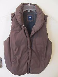 GAP PUFFER OUTDOOR VEST Brown WOMAN SIZE Medium