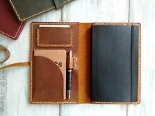 Yellow Leather Moleskine Classic Cover Leather Travel Journal Case Notebook Case