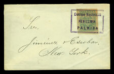 COLOMBIA 1904 Civil War & Inflation period cover w/ 5p Sc#273 from PALMIRA to NY