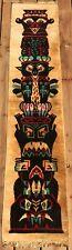 Vintage Totem Pole Tapestry Wall Hanging Rug Mid Century Modern Retro Belgium