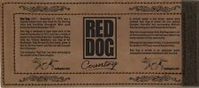 Red Dog Wrap Leather Stubby Holder