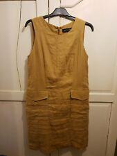 Next Size 10 Linen Yellow Dress