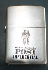 1958 ZIPPO Lighter The Saturday Evening Post Influential made USA  Pat.3517191