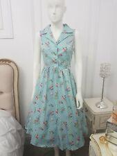 Lindy Bop Matilda Mason Jars Dress New Vintage Summer Swing Garden Party size 8