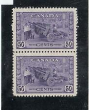 CANADA # 261 VF-MNH PAIR 50cts 1942 MUNITIONS FACTORY CAT VALUE $120
