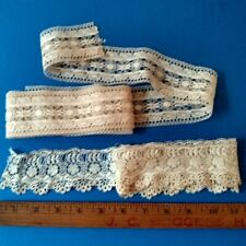 4 Yds Antique French Lace Lot Wonderful Estate Collection #3 Vintage Amazing