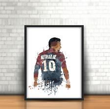 Neymar JR - PSG Inspired Football Art Print Design Paris St Germain Number 10