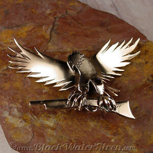 REBEL EAGLE PIN - One Of A Kind OOAK- Bronze Hand Fabricated Brooch Pin
