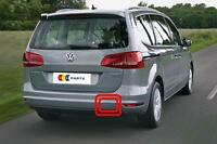 VW SHARAN 10-16 NEW GENUINE REAR BUMPER TOW HOOK COVER CAP 7N0807441