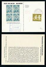 62091) Ballonpost FDA Dolder Schlieren -Oberstaufen 3.5.58, Var. weisser Karton