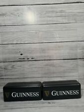 """Guinness Acrylic Table Tents With Wood Base Advertising Beer Man Cave 9""""x5"""" (10)"""