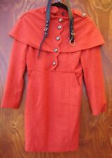 Orange fitted dress/coat NWOT wool lined winter size 6-8