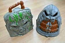 MONSTER IN MY POCKET HAUNTED MOUNTAIN + SKULL ISLAND CARRY CASE VINTAGE TOYS