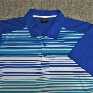 OAKLEY POLY GOLF SHIRT--XL--AWESOME COLORS!!--STRIPES--EXCEPTIONAL QUALITY