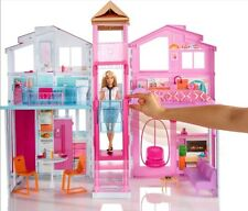Barbie Three Storey 3 Story Townhouse Dolls Town House Palace Girls Playset Toy